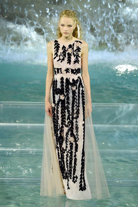 ROME, ITALY - JULY 07:  A model walks the runway at Fendi Roma 90 Years Anniversary fashion show at Fontana di Trevi on July 7, 2016 in Rome, Italy.  (Photo by Victor Boyko/Getty Images )