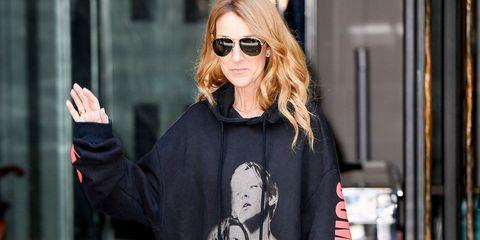 Celine Dion in Vetements Titanic hoodie