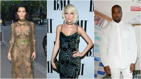 Kim Kardashian, Taylor  Swift, Kanye West   ELLE UK