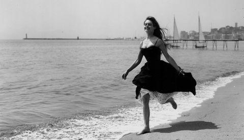 Dress, Shoulder, Water, Photograph, Coastal and oceanic landforms, Style, Summer, Waist, Beach, Ocean,