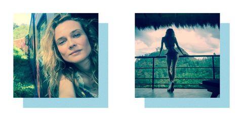 Diane Kruger break-up holiday