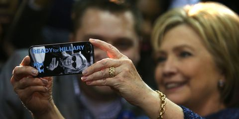 Hillary Clinton takes picture | ELLE UK