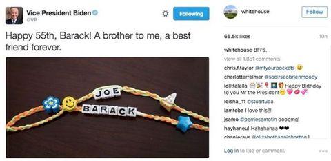 Barack Obama and Joe Biden's friendship bracelet