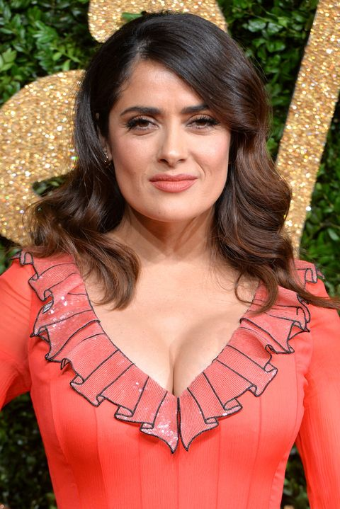 <p>Salma Hayek's subtle ombré transitions from her natural black-brown hue to a warm chestnut. </p>