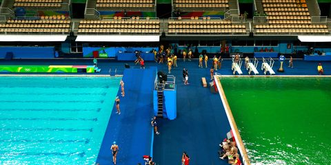 Green pool at the Olympics | ELLE UK