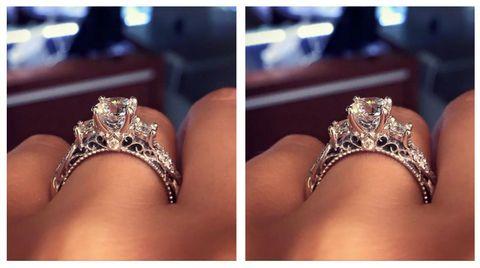 Most popular engagement ring on Pinterest | ELLE UK
