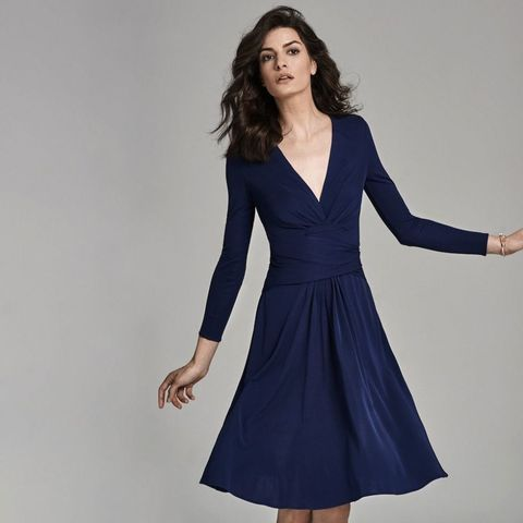 Monsoon Daniella Helayel Navy Wrap Dress