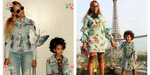 f79e8b92f Beyoncé And Blue Ivy's Matching Fashion Is Adorable