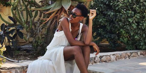 ELLE UK's Accessories Editor, Donna  Wallace, at Ibiza Rocks, Ibiza