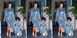 North West Vetements silver sequins