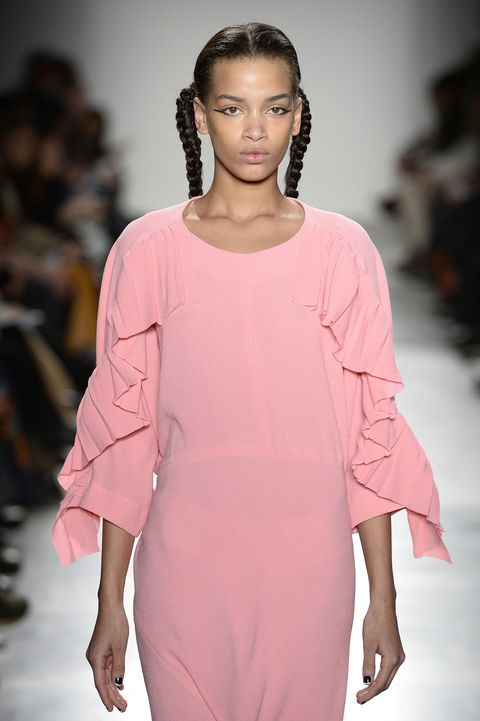<p>On paper, pink and ruffles should have been too sickly sweet to make the cut. But in reality A Détacher's designer Monika Kowalska has managed to make a very modern, simple dress. Tick.</p>