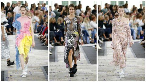 Footwear, Event, Fashion show, Dress, Runway, Style, Fashion model, Street fashion, Fashion, Public event,