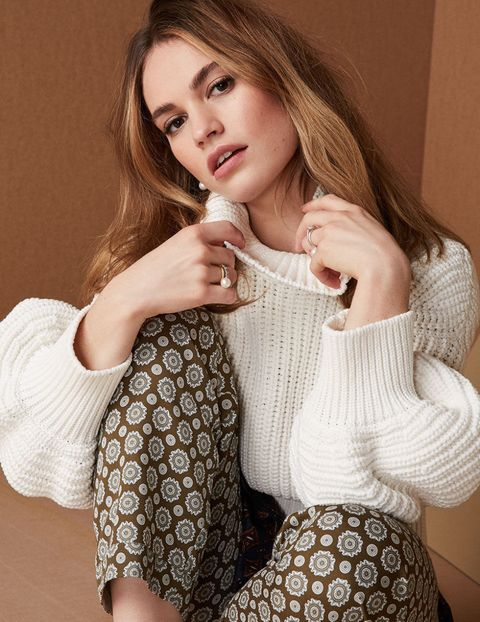 Lily James Covers October Elle