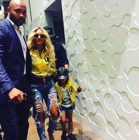 Beyoncé and Blue Ivy Matching Fashion
