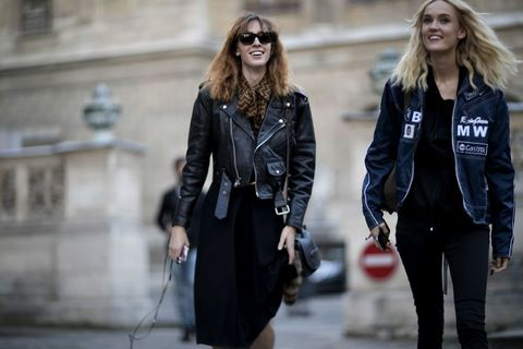 Paris Fashion Week SS17: Models Off Duty | ELLE UK