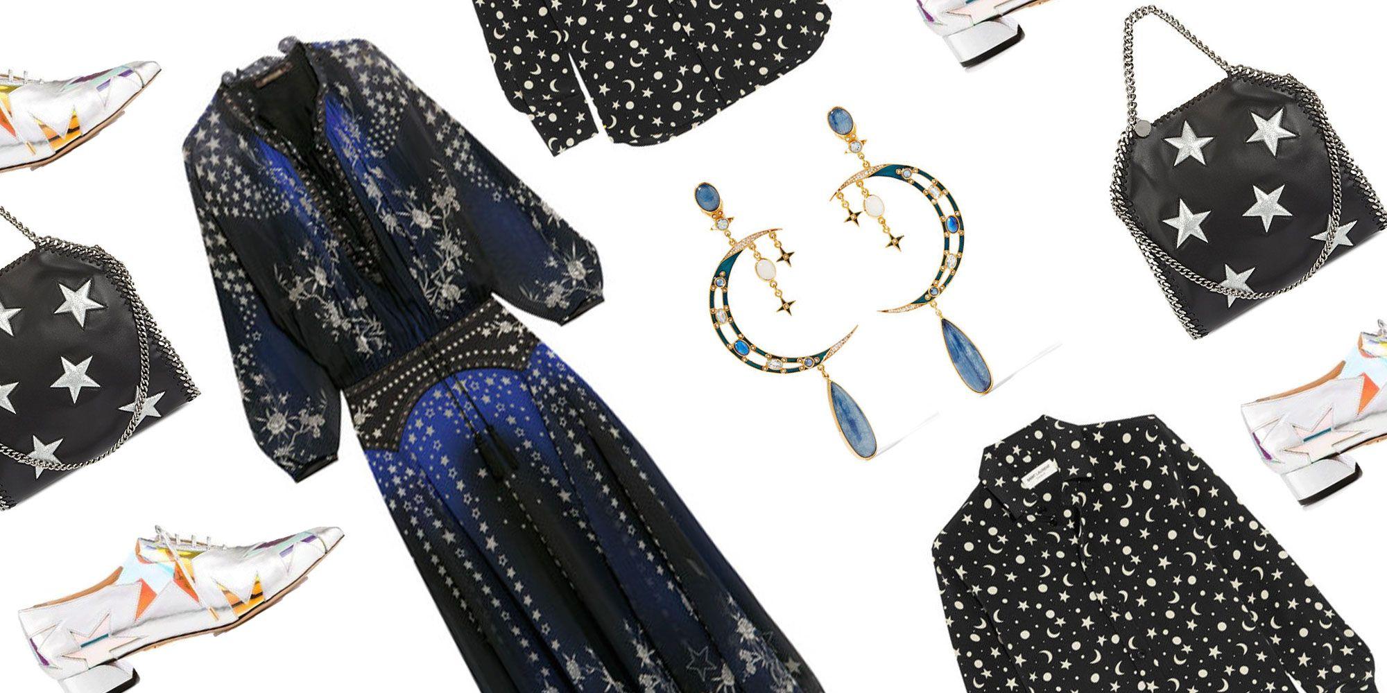Vintage T-Shirt,Constellation Theme Star Fashion Personality Customization