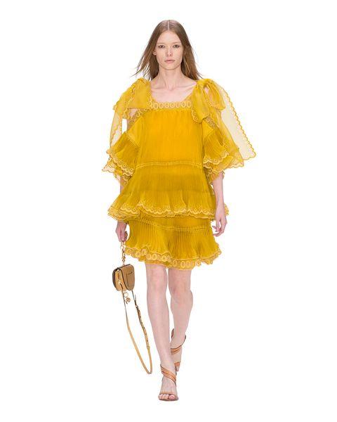 Dress, Sleeve, One-piece garment, Amber, Formal wear, Day dress, Fashion, Cocktail dress, Costume design, Fashion illustration,