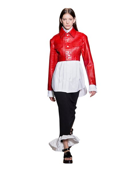 Clothing, Sleeve, Collar, Shoulder, Textile, Style, Formal wear, Knee, Fashion model, Fashion accessory,