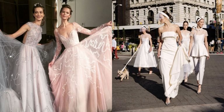 The most beautiful wedding dresses from fall 2017 bridal fashion week junglespirit Images