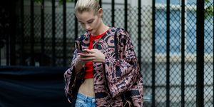 Instagram model on phone | ELLE UK