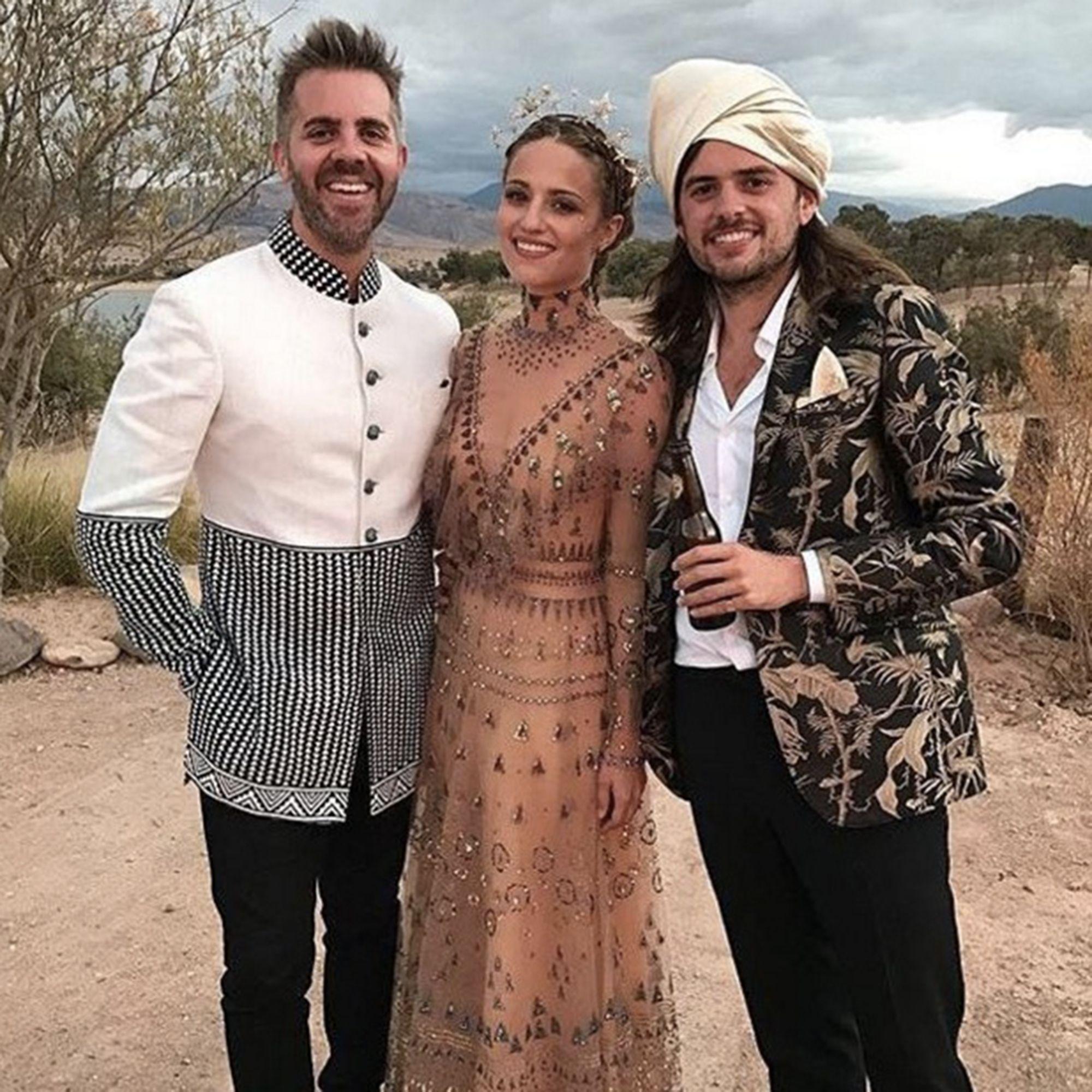 Dianna Agron Unique Wedding Dress