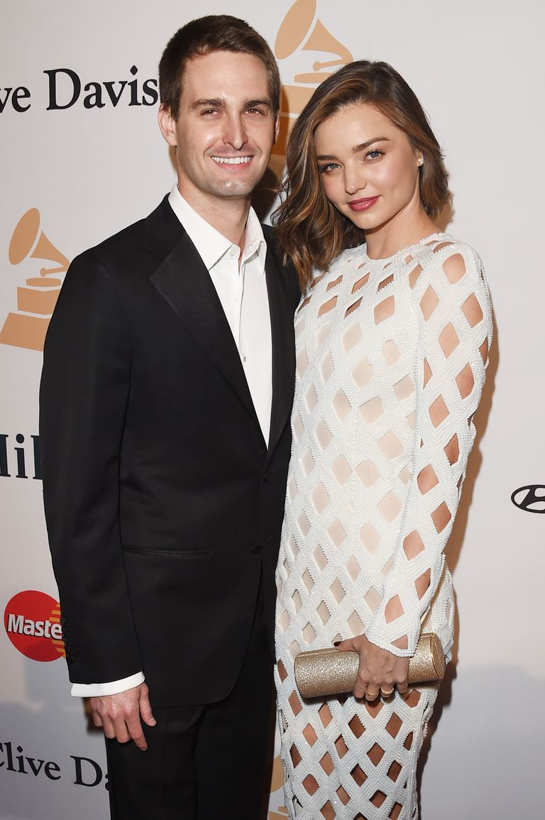 Miranda Kerr and Evan Spiegel ELLE UK