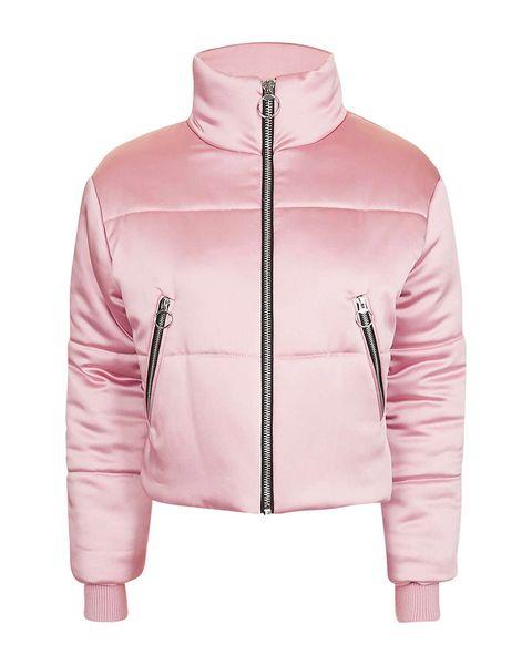 Clothing, Product, Jacket, Sleeve, Collar, Textile, Outerwear, White, Pink, Sweatshirt,