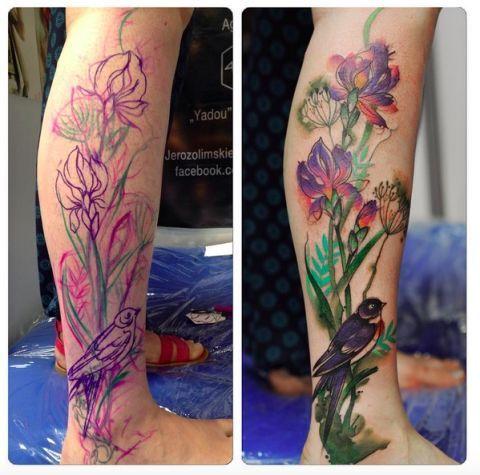 Fairytale Inspired Tattoo Art That Looks Like Water Paintings
