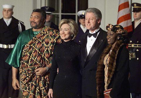 Nana Rawlings with Hillary and Bill Clinton