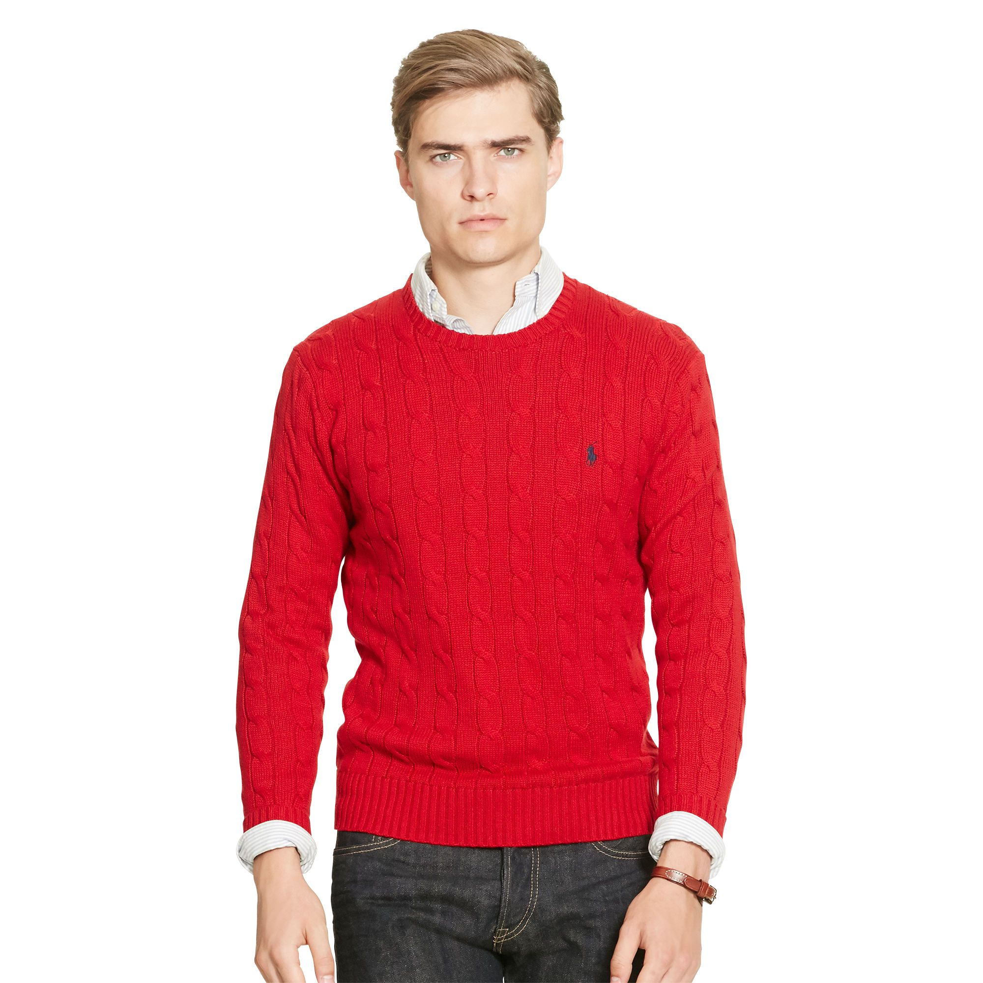 "<p><strong data-redactor-tag=""strong"" data-verified=""redactor"">Cable-Knit Cotton Sweater, £115</strong></p><p>After a long day on the mountain, he'll be relieved to pull on this classic jumper and hit the bars.<span class=""redactor-invisible-space"" data-verified=""redactor"" data-redactor-tag=""span"" data-redactor-class=""redactor-invisible-space""></span></p>"