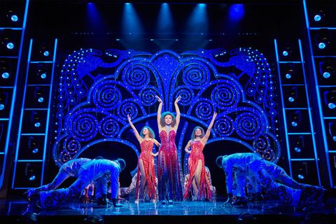 Dreamgirls the musical Costumes designed by Gregg Barnes and set by Tim Hatley using Swarovski crystals