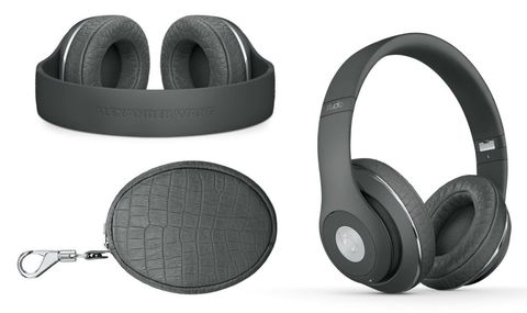 dcfe1237fd1 In try Wang aesthetic, the dove grey foldable headphones include a matching  leather case and croc-embossed leather ear cups - you can buy them here.