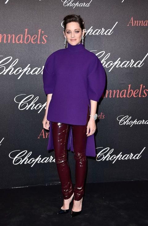 "<p>The French actress has had a big year, enjoying success with two blockbuster&nbsp;movies - <em data-redactor-tag=""em"" data-verified=""redactor"">Allied</em> and <em data-redactor-tag=""em"" data-verified=""redactor"">Assassin's Creed</em> - and announcing her second pregnancy. She's previously worked with stylist Alexis Roche (partner of John Galliano) but it's not clear if he is still styling her. But whoever is, or indeed if she's&nbsp;doing it herself,&nbsp;they're doing a spectacular job. Always edgy&nbsp;but never in you face, Cotillard knows how to do contemporary glamour.</p><p>She's pictured her during&nbsp;the Chopard Gent's Party at Annabel's in Cannes during the 69th Cannes Film Festival.<br></p>"