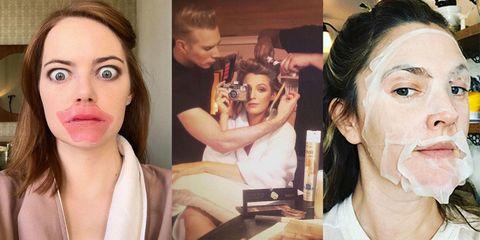 Pre-Golden Globes No Make-Up Selfies
