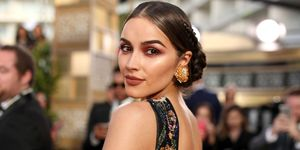 Olivia Culpo shows off the peach eye make-up trend dominate awards season 2017
