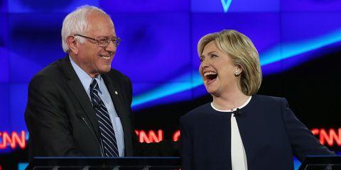 Bernie Sanders and Hillary Clinton | ELLE UK