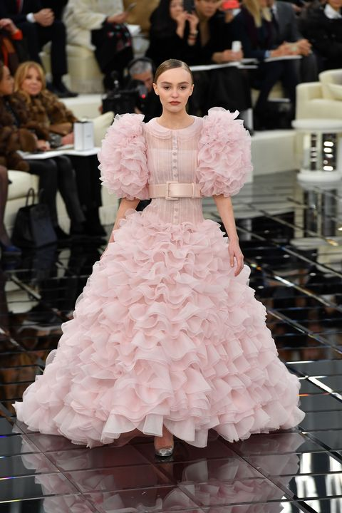 Lily Rose Depp in Chanel couture show couture fashion week January 2017
