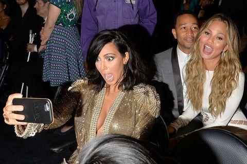Kim Kardashian and Chrissy Teigen