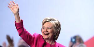 Hillary Clinton waving | ELLE UK
