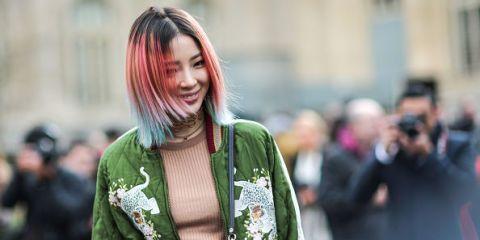Bleaching and colouring asian hair