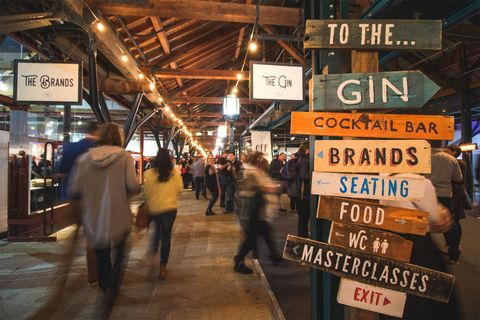 The Gin Festival London, Tobacco Quay,Wapping, London