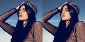 Kylie Jenner Holding Head Wearing Crown