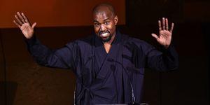Kanye West giving speech | ELLE UK
