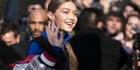 Gigi Hadid Models Off Duty London Fashion Week Autumn Winter 2017