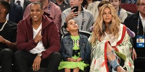 Beyonce, Jay Z and Blue Ivy at All Star basketball game in New Orleans | ELLE UK