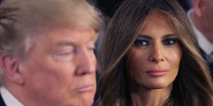 Melania Trump and Donald | ELLE UK