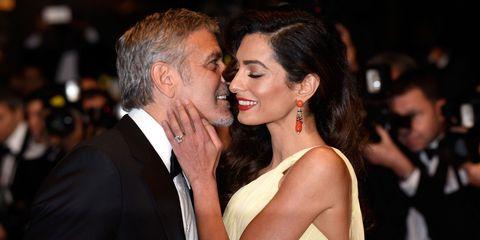 George and Amal Clooney   ELLE UK