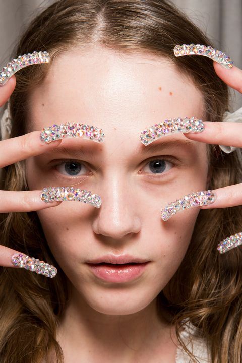 Gucci AW17 backstage nails