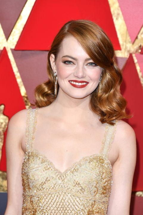 Emma Stone oscars 2017 beauty look