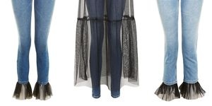 Topshop Tulle Jeans
